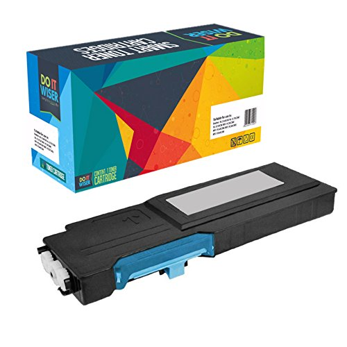 Do it Wiser Compatible High Yield Toner Cartridge Replacement for Dell C3760 C3760dn C3760n C3765 C3765dnf Cyan