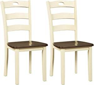 Signature Design By Ashley - Woodanville Dining Room Side Chair - Set of 2 - Casual Style - Cream/Brown