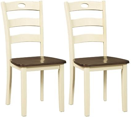 Amazon.com Signature Design by Ashley D335-01 Woodanville dining-chairs White Ladder Back Kitchen u0026 Dining  sc 1 st  Amazon.com & Amazon.com: Signature Design by Ashley D335-01 Woodanville dining ...