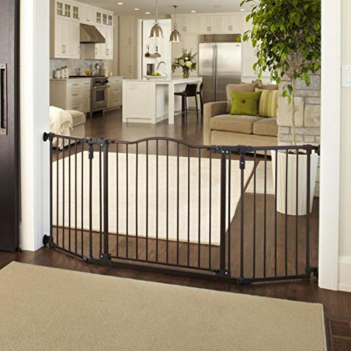 """Deluxe Décor Gate"" by North States: Fits extra-wide openings and has matte finish on heavy-duty metal for safety and functionality. Hardware mount. Fits openings 38.3″ to 72″ wide (30″ tall, Bronze) Review"
