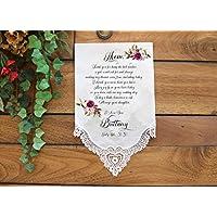 Mother of the Bride Handkerchief-Wedding Hankerchief-PRINTED-CUSTOMIZED-Wedding Hankies-Mother of the Bride Gift-FL[E-1]