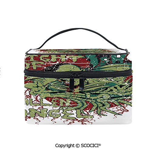 Printed Portable Travel Makeup Cosmetic Bag Night of