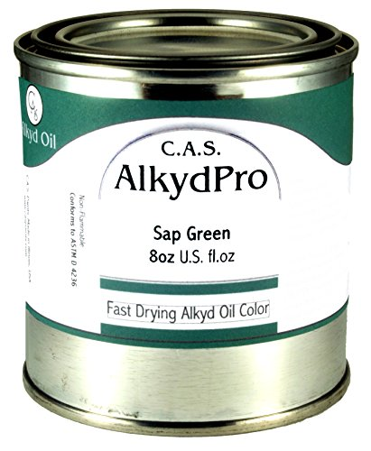 C.A.S. Paints AlkydPro Fast-Drying Oil Color Paint Can, 8-Ounce, Sap Green