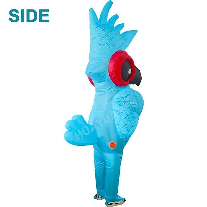Amazon.com: HUAYUARTS - Disfraz hinchable de loro azul para ...