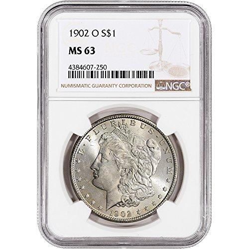 1902 O US Morgan Silver Dollar NGC Large Label $1 MS63 NGC