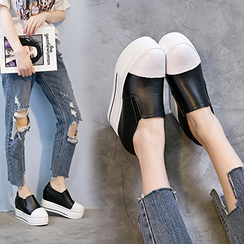 Female Foot six The Shoes Thirty Head KHSKX All Shoes Set Slope Waterproof With Leather Shoes Of Fall Match New 7dwUxqFa