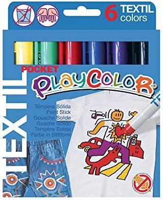 Playcolor 936008 - Estuche con 6 temperas sólidas, textil pocket, 5 gr: Amazon.es: Industria, empresas y ciencia