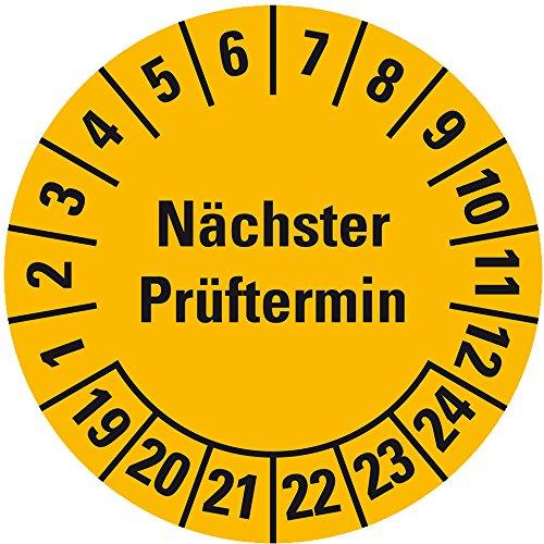LEMAX® Prüfplakette Nächster Prüftermin, 20-25, orange, Folie, Ø 30mm, 18/Bogen LEMAX® Industriebedarf