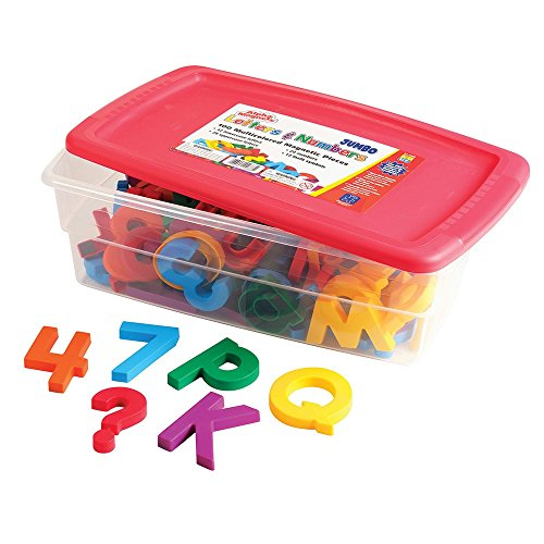 EDUCATIONAL INSIGHTS AlphaMagnets & MathMagnets Combo Set - Jumbo Multicolored, 100 pieces