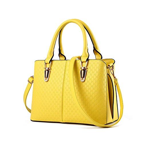 Borsa Ms a Messenger bag di in elaborazione tracolla raccoglitore Giallo dell'unità borsa big bag goffrata borsa borsa pelle qualità Tisdain 4z1dxwq4B