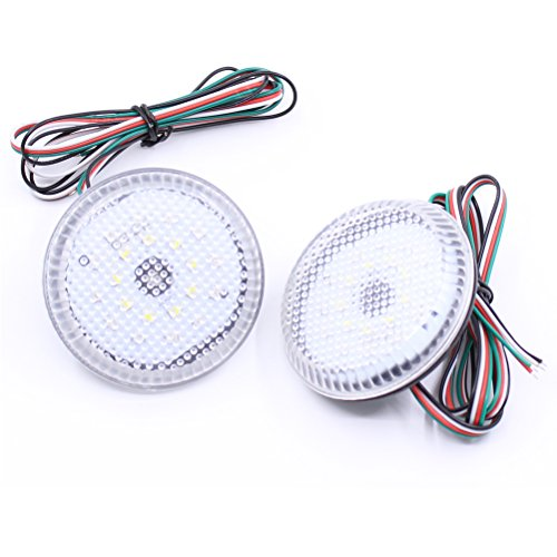 Paision a Pair Clear Lens LED Rear Bumper Reflector White Light Lamp for Scion Xb Iq Toyota Sienna Corolla ()