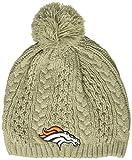 NFL Denver Broncos Women's Valerie OTS Beanie Knit Cap with Pom, Gray, Women's