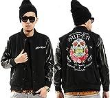 Pizoff Unisex Rock Gothic Punk Colorful Skull Printing Baseball Jacket Y0228-XL