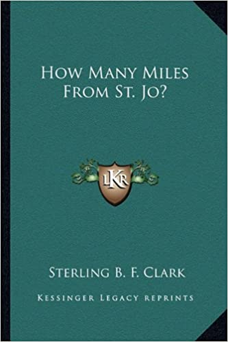 How Many Miles From >> How Many Miles From St Jo Sterling B F Clark