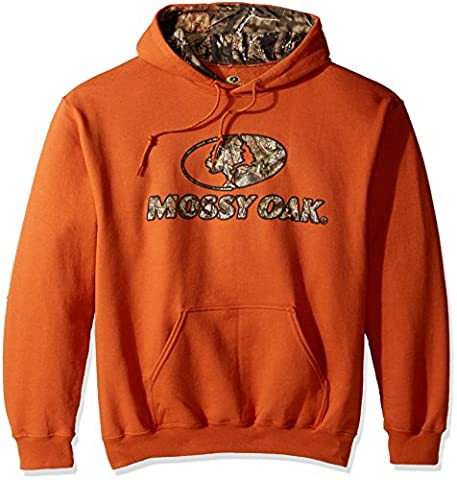 Mossy Oak Men's Camo-Lined Hoodie, Texas Orange, XX-Large (Hoodies Texas)