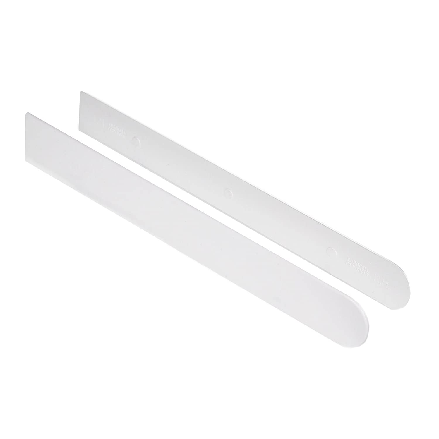 Pair White Long Window Cill Capping End Caps