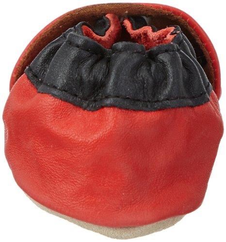 Jack & Lily Bulldog red - Zapatos de primeros pasos bebé Rojo con motivos en gris, azul marino y crudo