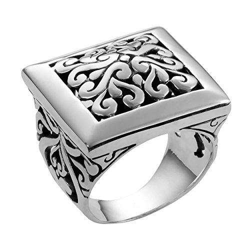 Mens Bali Sterling Silver Art - 5