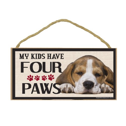 Imagine This Wood Breed Four Paws Sign, Beagle