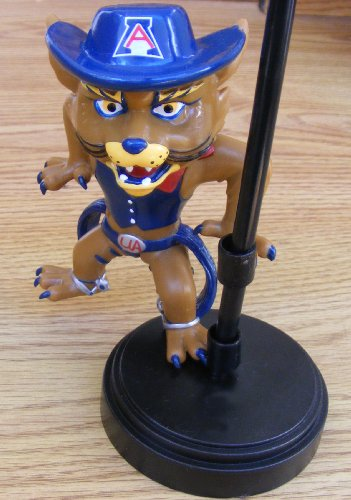 University of Arizona Wilbur the Wildcat Figurine for Antenna or Desk Stand