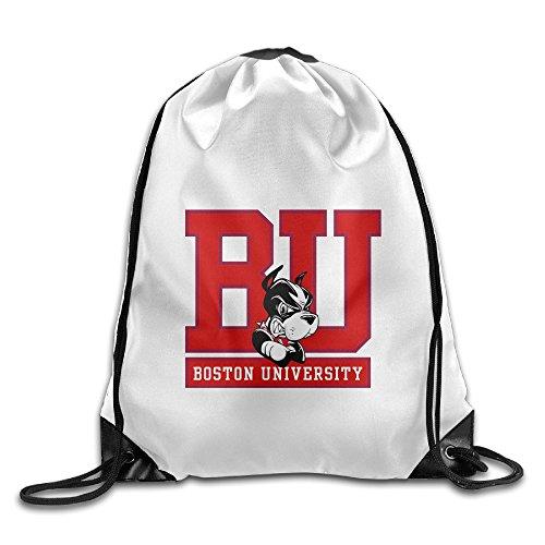 Bekey Boston Mascot Terrier University Gym Drawstring Backpack Bags For Men & Women For Home Travel Storage Use Gym Traveling Shopping Sport Yoga Running