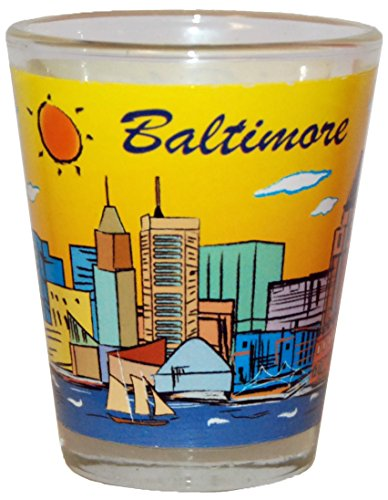 Baltimore Glass - American Cities and States of Cool Shot Glass's (Baltimore)
