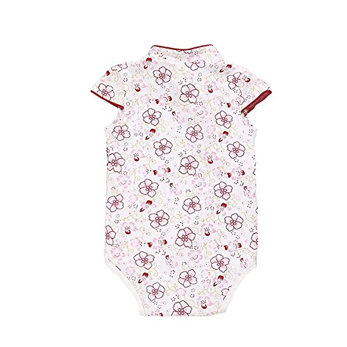 1900 Costumes For Sale (True Meaning Pretty Baby Girl Cheongsam Dress Short Sleeve Formal Qipao Bodysuit Red Floral9-12 Months)
