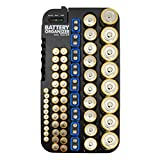 Whizzotech Battery Organizer and Tester for AA AAA C D 9V Battery Storage Holder/Container (Hold 72 Batteries)
