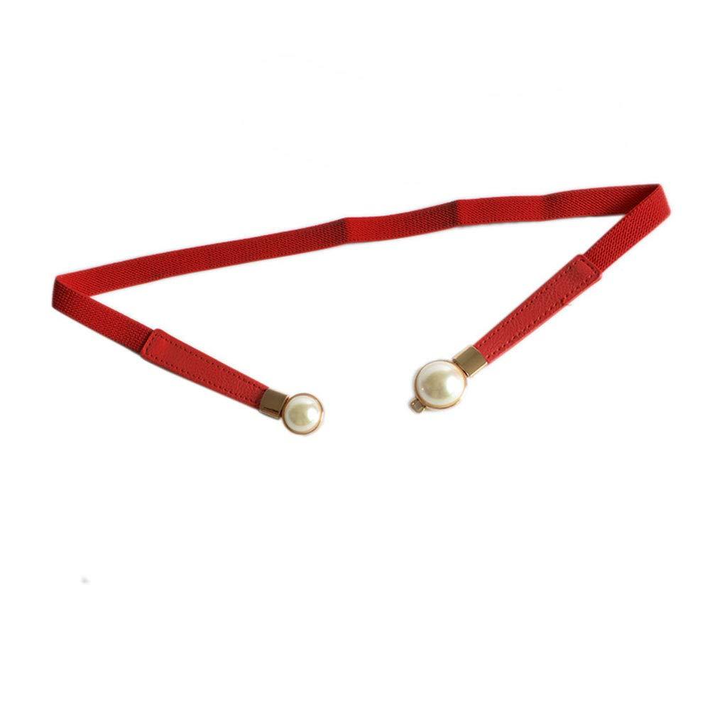 Women//Girl Skinny Waist Cinch Belt Stretchy Waist Retro Metal Elastic Clasp belt For Dress