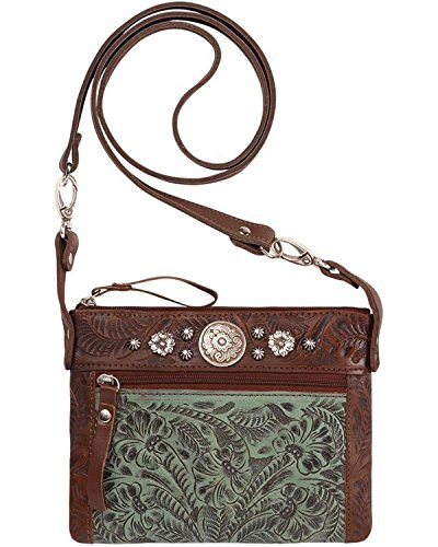 American West Womens Purse (American West Women's Turquoise Trail Rider Crossbody Purse Turquoise One Size)