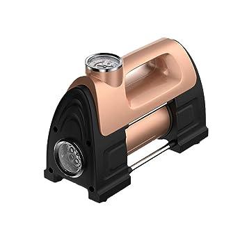 Bomba de aire de coche metal 30 + doble cilindro 12V portátil de alta potencia de alta presión del ...