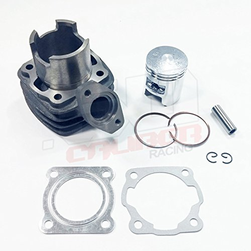 Master Cylinder Top Gasket (50 Caliber Racing Replacement Top End Rebuild Complete Kit Cylinder, Piston & Gaskets for 1984 1985 1986 1987 Honda NQ50 Spree / Elite Nifty Smile Eve Tact 1 50 Scooter Moped [4449A14])