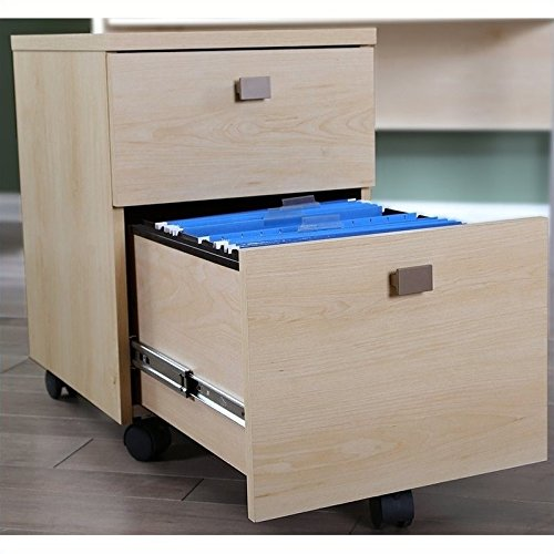 South Shore Interface 2-Drawer Mobile File Cabinet, Natural Maple (Mobile File Cabinet Light)
