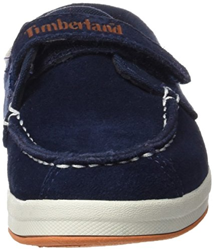 Timberland Unisex Baby Dover Bay H&l Boatblack Iris Suede With Orange-ca1584 Lauflernschuhe Blau (Black Iris Suede With Orange)
