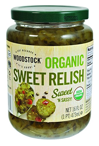 Woodstock, Sweet Relish, At least 95% Organic, 16 oz