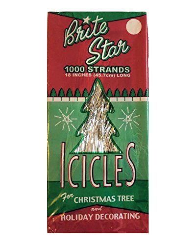 Mylar Tinsel - Brite Star Tinsel Icicles, 1000 Strands Per Package