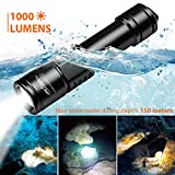 ORCATORCH D520 Diving Flashlight 1000 Lumens Scuba Diving Light Submarine Light Underwater 150m Scuba Safety Lights
