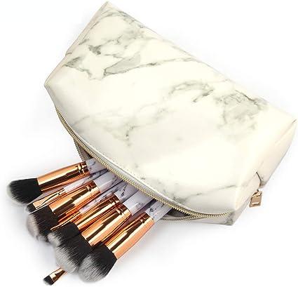 Bolsa de cosméticos para mujer, pequeña bolsa de viaje portátil para cosméticos, bolsa de mano para viaje, cuadrada, para guardar brochas de maquillaje, neceser de aseo: Amazon.es: Belleza