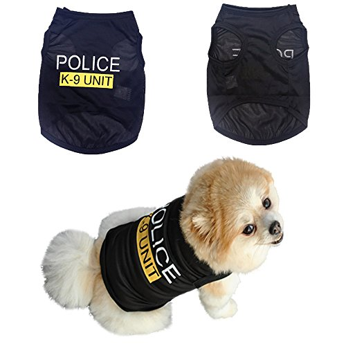 Axchongery Dog Vest, Cool Spring Summer Pet Shirt Police Dog