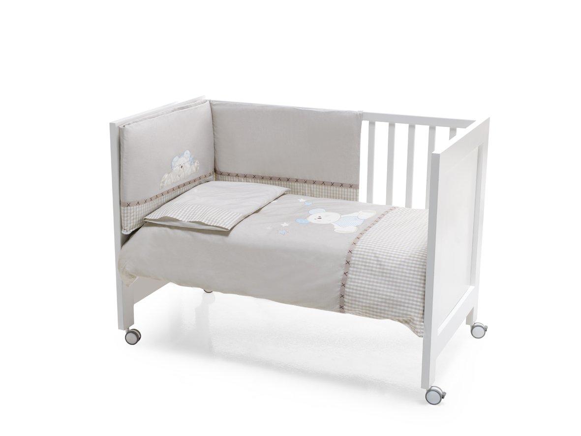 Interbaby 91028 - Juego de 3 piezas para camas infantiles de 60 x 120 cm, incluye edredó n, acolchado protector y almohada incluye edredón