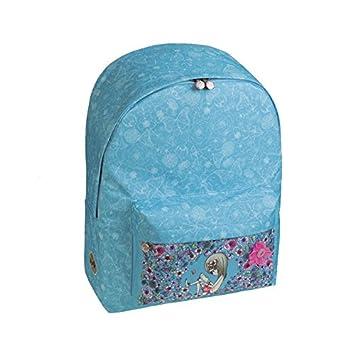 Busquets - Mochila escolar sport petals azul: Amazon.es: Oficina y papelería