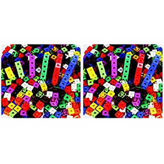 Childcraft Linking Cube Set, 3/4 Inches, Assorted Colors, Set of 100 - 264681 (Тwо Расk)