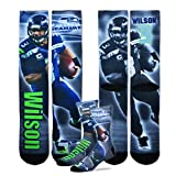 Seattle Seahawks Youth Size NFL Drive Crew Kids Socks (4-8 YRS) - Russell Wilson