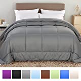 Alternative Comforter - Balichun Hotel Collection 1800 Series - Luxury Duvet Insert Goose Down Alternative Quilted Comforter with Corner Tabs - Hypoallergenic, King/Cal King, Grey