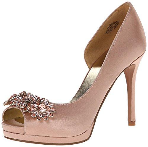 Nine West Women's Finest Satin D'Orsay Pump, Light Pink, ...