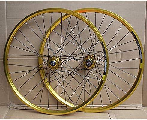 MZPWJD MTB Juego Ruedas Bicicleta 24 Pulgadas Llanta Doble Capa ...