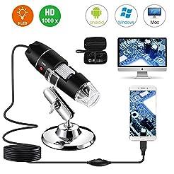 USB Digital Microscope 40X to 1000X, Bys...
