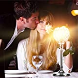 Silver Modern Crystal Lantern Candle Cup Holders for Valentines Day Dining Room Coffee Table Decorative Centerpiece KingWo (S)
