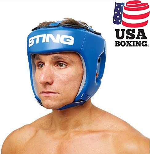 STING AIBA Competition MMA/Boxing Headguard – Blue, M