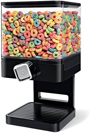 singolo Dispensatore di cereali Secco cibo Contenitore macchina Singolo dispensatore nero immagazzinaggio detiene 19 once di alimento Doppio